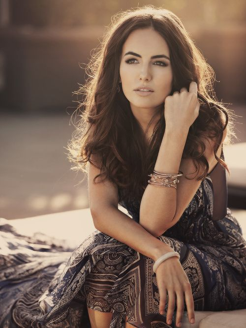 Camilla Belle...she is absolutely stunning! I love her thick eyebrows! She's gorgeous :)!!!!!