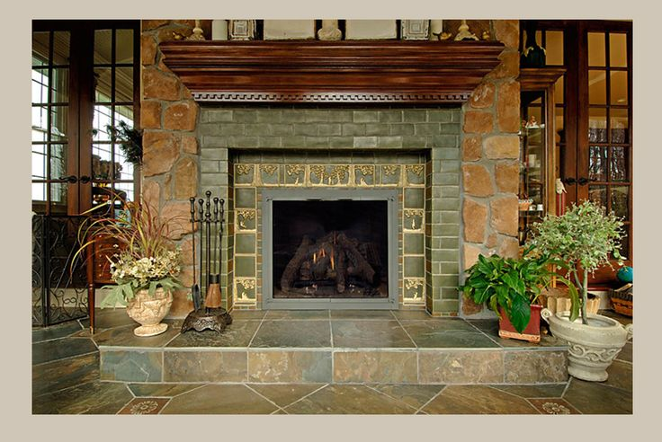 fireplace tile ideas pictures | tiles hearth uses 6 x 6 field tiles and 1 thick bull nose edge tiles ...