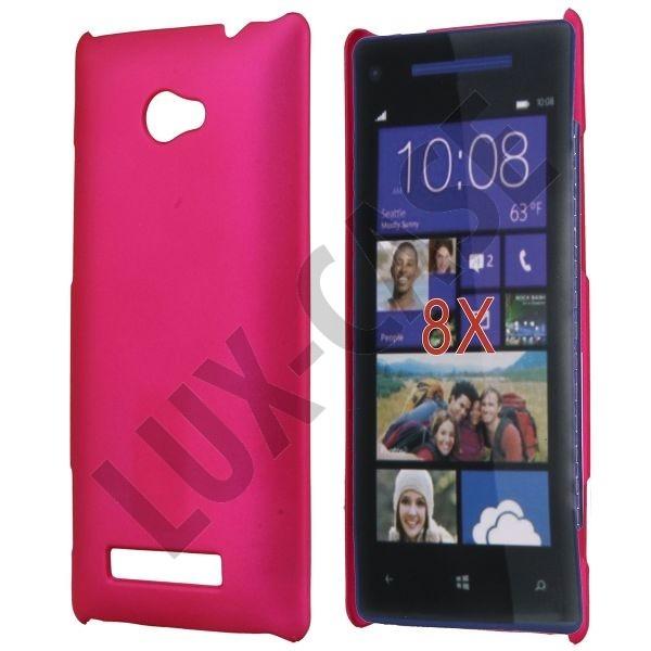 Hard Shell (Sterk Rosa) HTC 8X Deksel