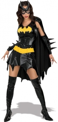 This is our Feisty Batgirl Fancy Dress Costume from our Rubies selection, Perfect for any Superhero Party or night out.