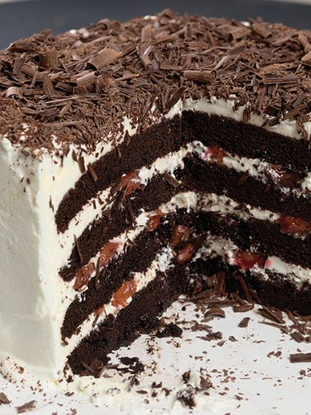 Oh my goodness...Black Forest Cake: Black Forest Cake, Forests, King Arthur Flour, Chocolate Cake, Sweet, Cakes, Savory Recipes, Dessert