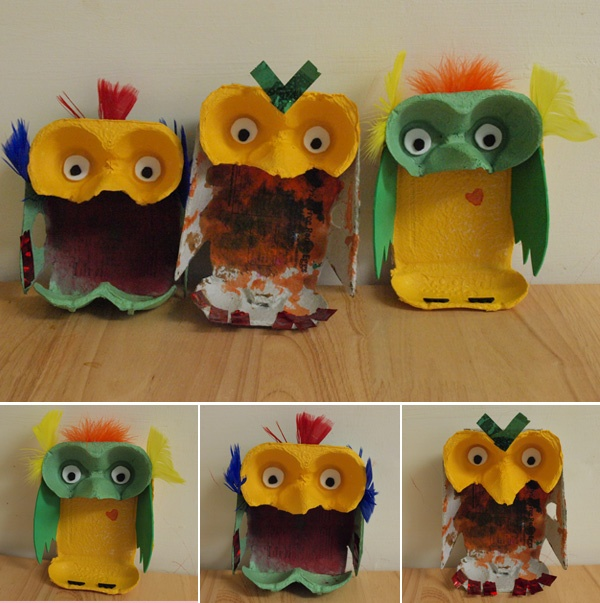 egg box owls I NEED to do this!