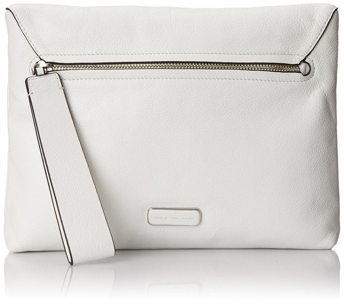Marc by Marc Jacobs Shape Shifter Small Soft Square Clutch, Star White, One Size