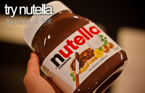 Perfect for dipping pretzels in, love my sweet with salty.: Bucket List, Bucketlist, Time, Life, Check, Food, Beforeidie, Nutella