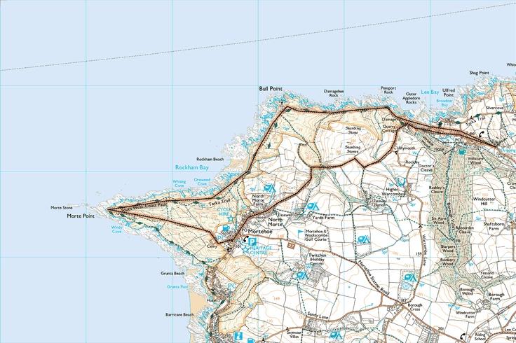 Mortehoe and North Devon's Deadly Coast - Printable Walk - South West Coast Path