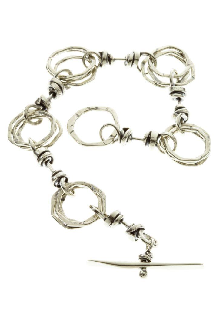 Coil and Circles Toggle Bracelet