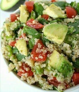 Ensalada De Quinoa y Aguacate ( Palta)