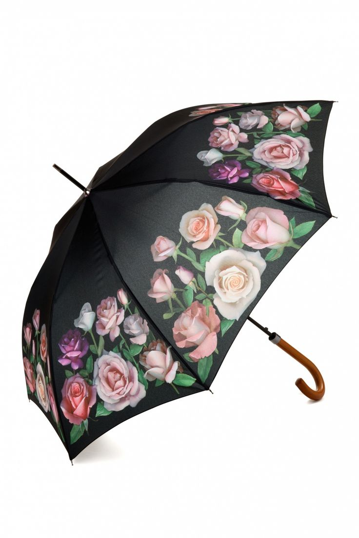 So Rainy - My sweet rose garden umbrella Black and  Pink                                                                                                                                                      More