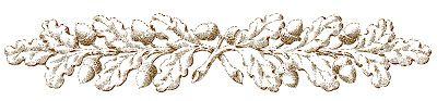 Vintage Fall Clip Art - Ornamental Oak Branches - The Graphics Fairy