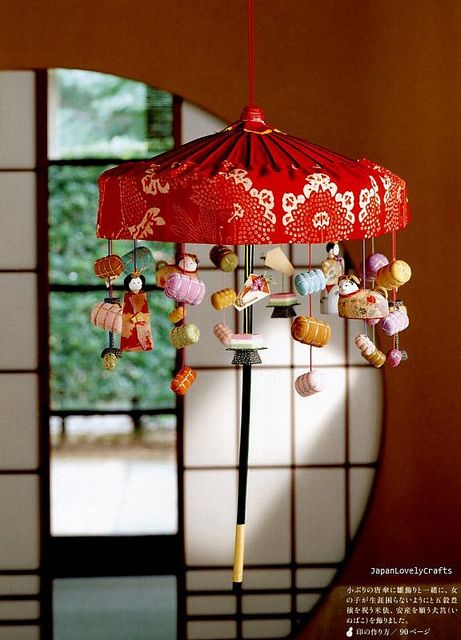 Chirimen - Japanese Traditional Craft - Crepe Fabric Retro Zakka - Oshie, Hanging Ornament, Temari - Katsumi Yumioka
