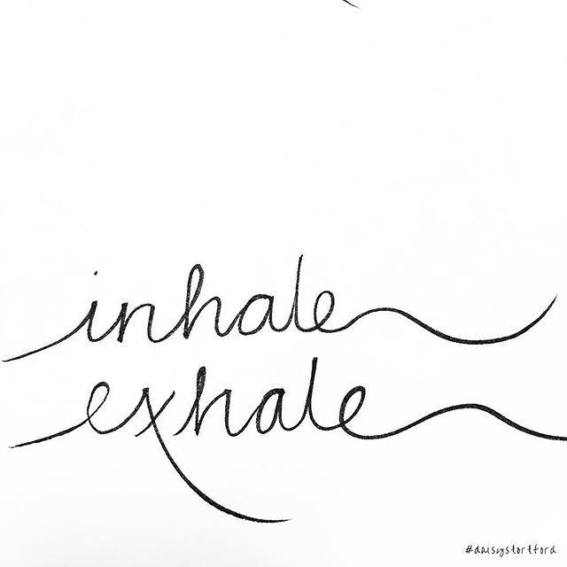 Inhale, exhale ❤