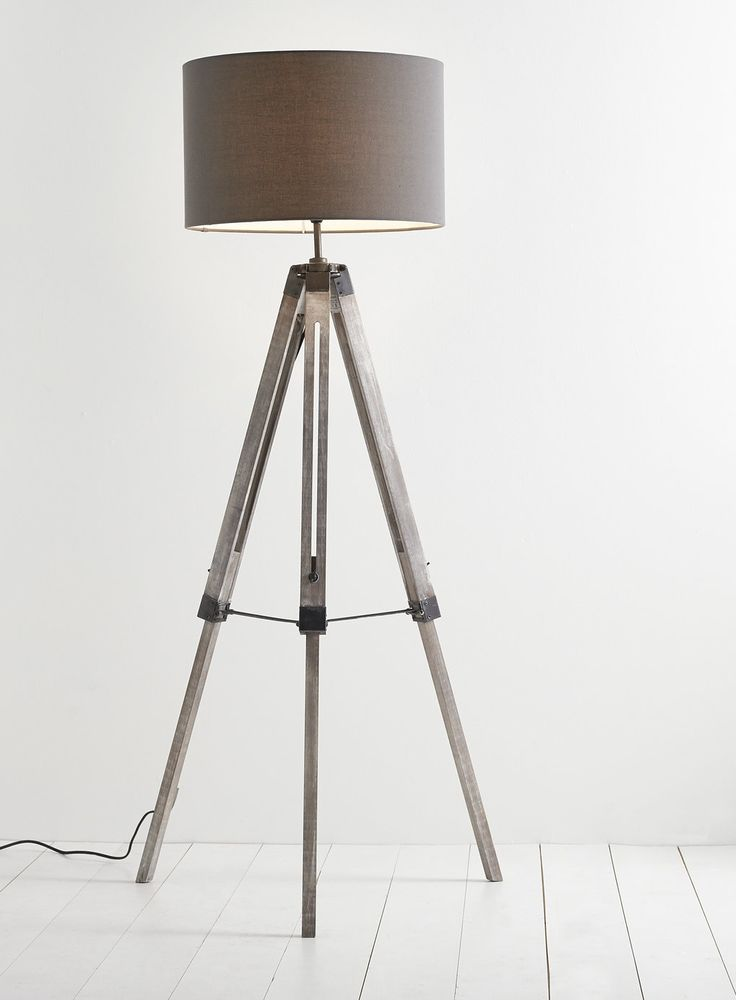 Harley tripod floor lamp grey bhs