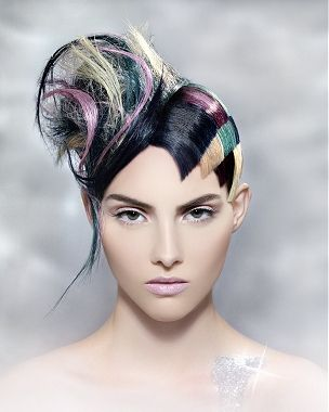 STYLING Model Hair ≈ :: A Long Black Straight Coloured Quirky Avant Garde Womens Hairstyle by D Ambrose