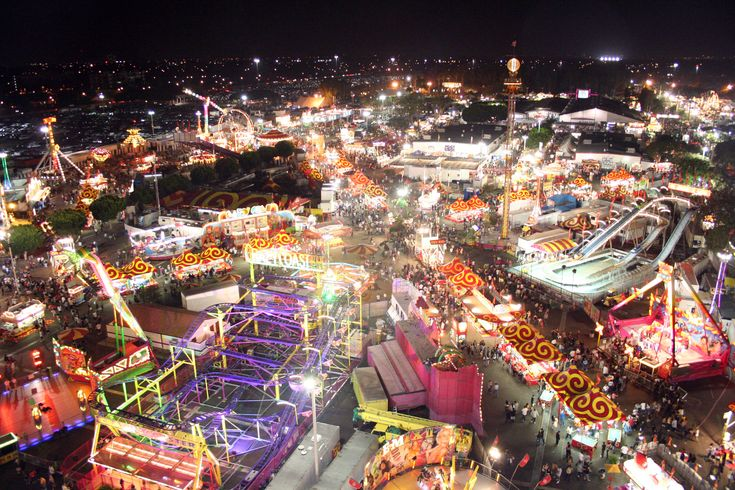 The OC Fair in Orange County, California. The Fair runs for a month every summer in Costa Mesa, California. Lots to see, lots to eat & lots to do!