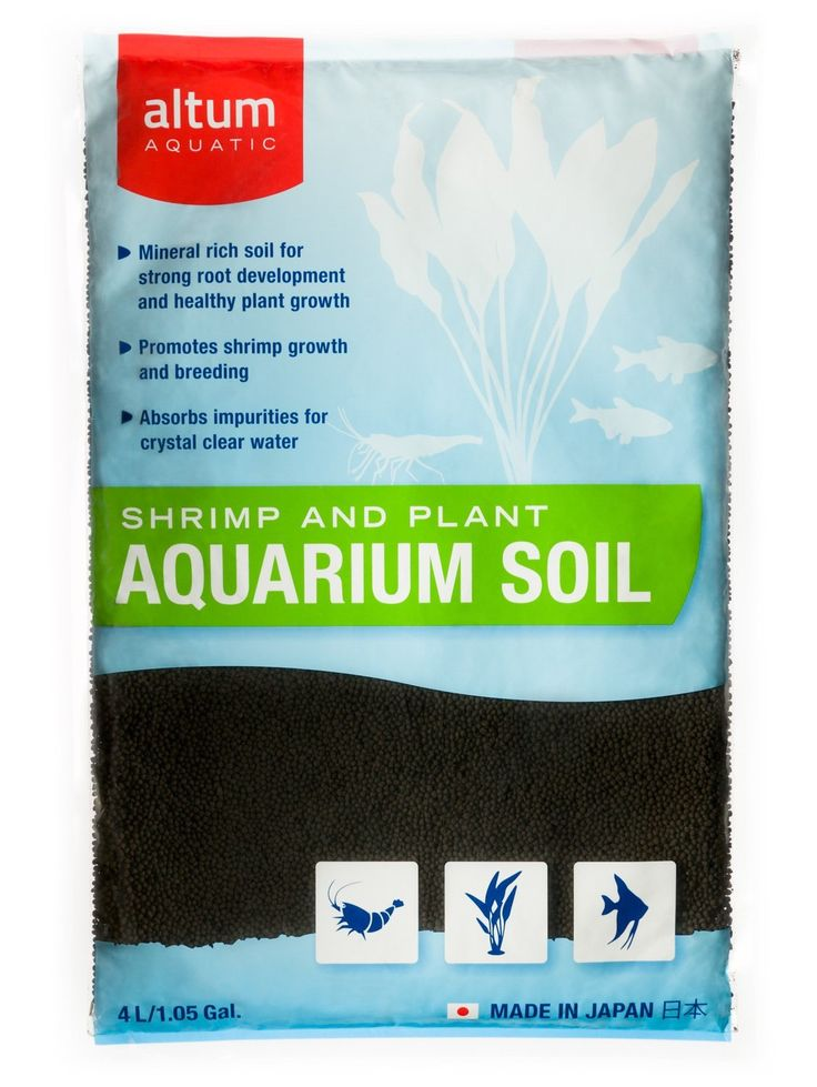 Altum Aquatic Shrimp and Plant Aquarium Soil 8.8-Pound Black