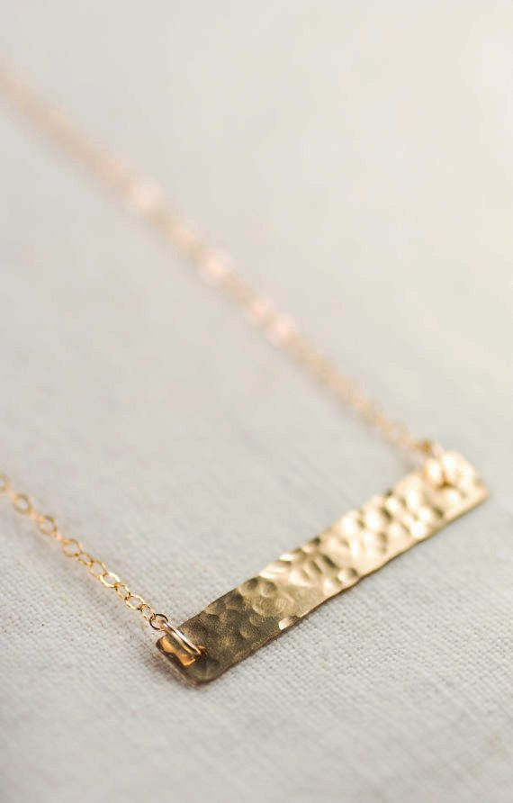 Kaila necklace gold bar necklace single strand