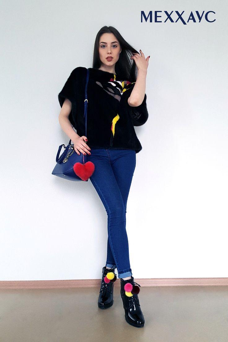 Девушка должна уметь две вещи: быть сказочной и стильной (Коко Шанель) Наши новинки : Свитшот из меха норки М036! Съемные помпончики на обувь, и не только! Очень удобная и классная вещь! А на сумке наш норковый брелок в форме сердца) #меххаус #брелки #норковыйсвитшот #свитшот #свитшотизнорки #норковыйжакет #меховойбрелок #брелокизмеха #брелоксердце #меховойшар