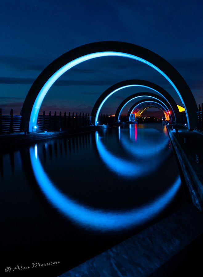 The Falkirk Wheel, Scotland.  - (explore your biking wanderlust on www.motorcyclescotland.com)