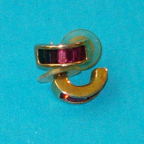 Rainbow Rhinestone Earrings - Mookie Designs Vintage
