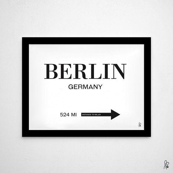 Wanddeko - Plakat Berlin / Prada Marfa inspiriert / Printable - ein Designerstück von sppiy bei DaWanda