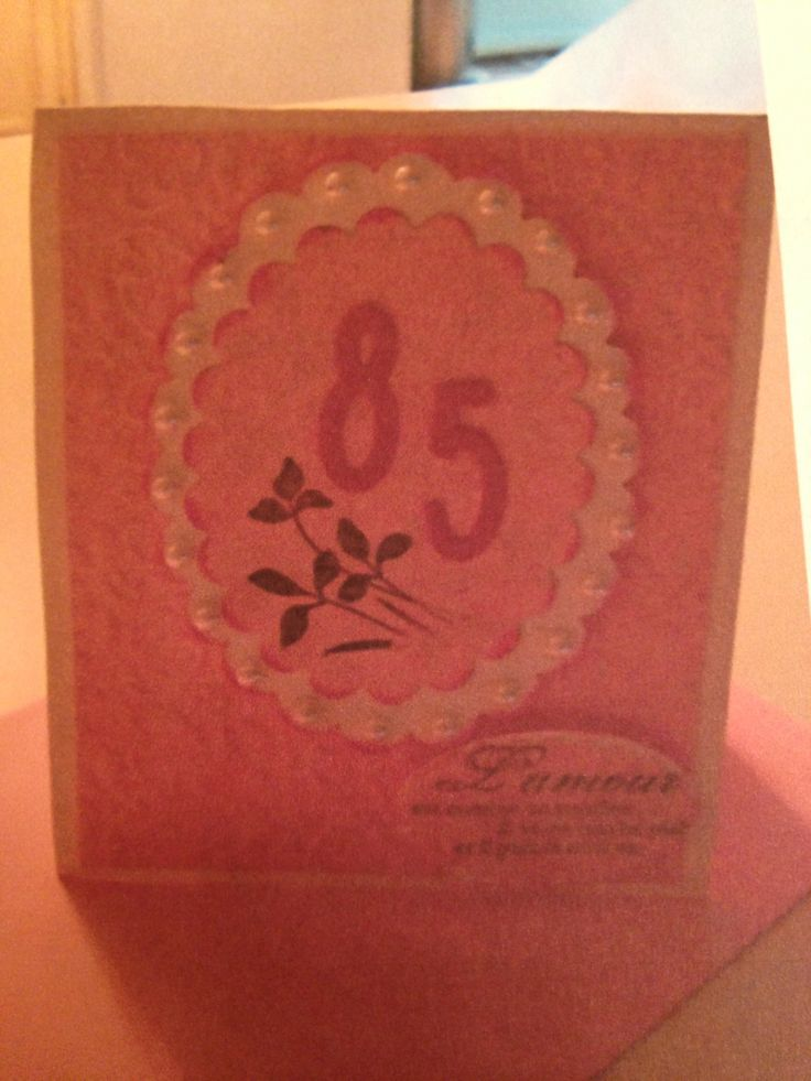 85 th birthday cased