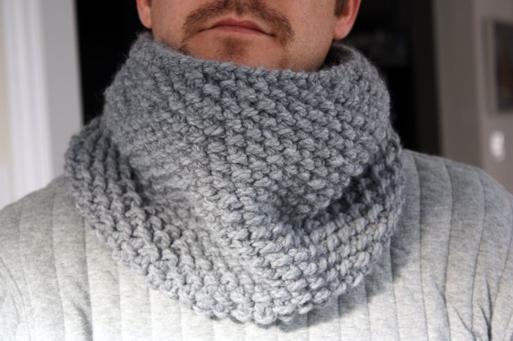 seed stitch cowl for the hubs - by kam 3polkadots