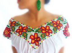 Nahua Blouse Mexico (Teyacapan) Tags: mexico clothing embroidery ...