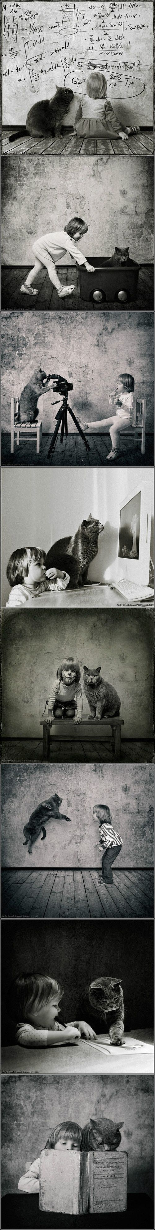 Don't miss this precious portrait series of a girl and her cat via pondly.com