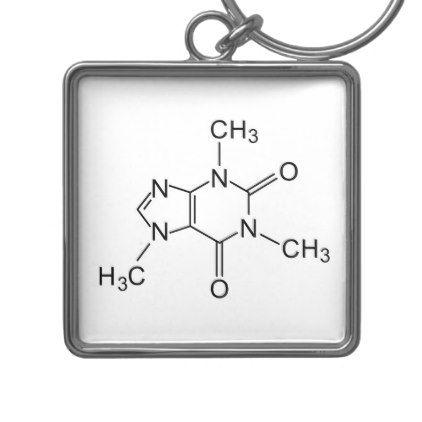 caffeine chemical formula coffee chemistry element keychain - accessories accessory gift idea stylish unique custom