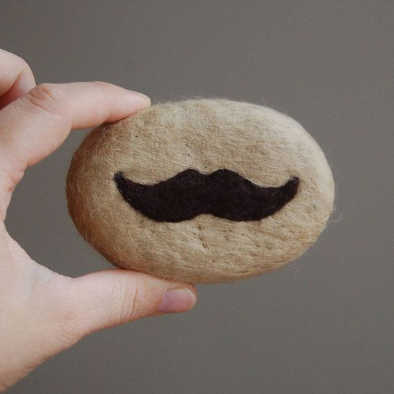 Felted Soap whit Brown Mustache Sandalwood Scent by SoFino. $18.00, via Etsy.
