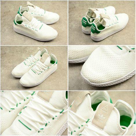 42f3700ebf72 Chaussures De Course 2017 Adidas PW TENNIS HU HUMAN RACE BA7828 White blanc  Green