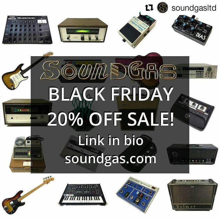 Sold some stuff. Added some more stuff. Link in our bio - 20% off about half our listings. Dive in. #blackfriday #sale #soundgas #supersonicgear