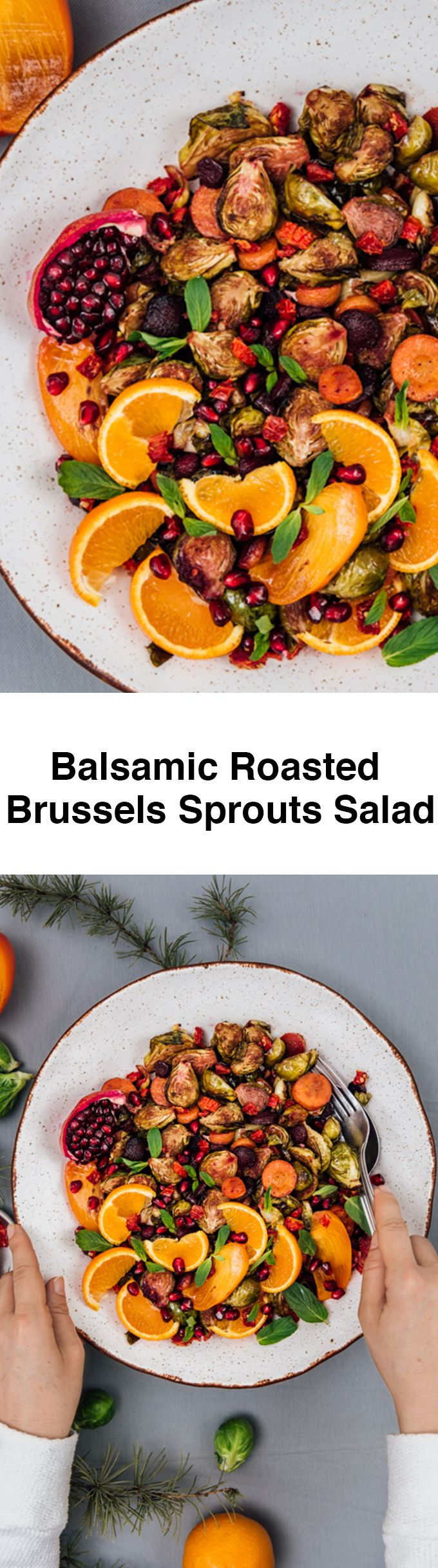 Side dishes are important. More important than main dishes for me. This colorful and flavor-packed Balsamic Roasted Brussels Sprouts Salad was the star of the menu last weekend.