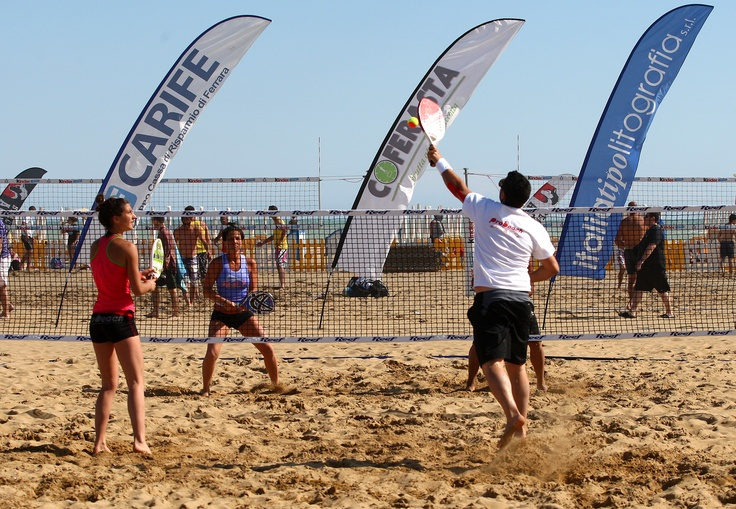 Beach Tennis Tournaments under the sun in Bibione  http://www.bibione.com/it/content/canale/Sport-in-spiaggia_236.aspx