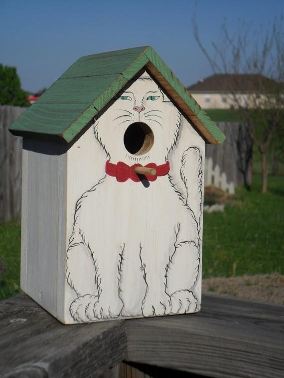 Cat Birdhouse, lol <;