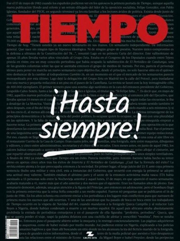 Portada Revista Tiempo, España
