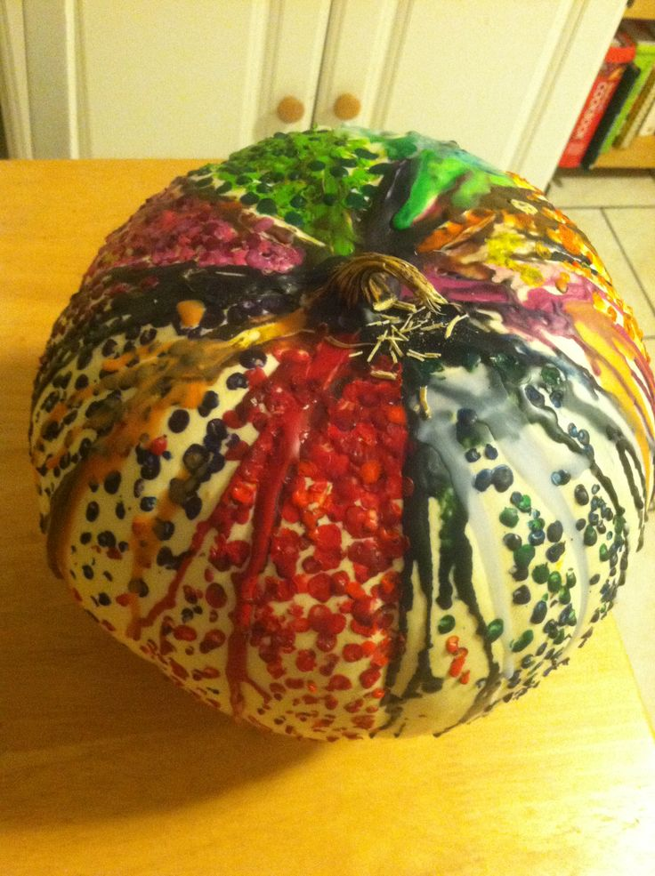 My crayon pumpkin :)