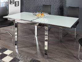 Table design carré extensible verre Enora