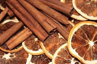 naranja o mandarina deshidratada al aroma de canela