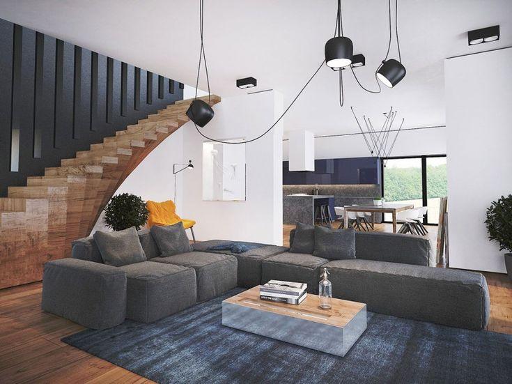Trendy Contemporary Home By Pavel Voytov Stair DesignStaircase