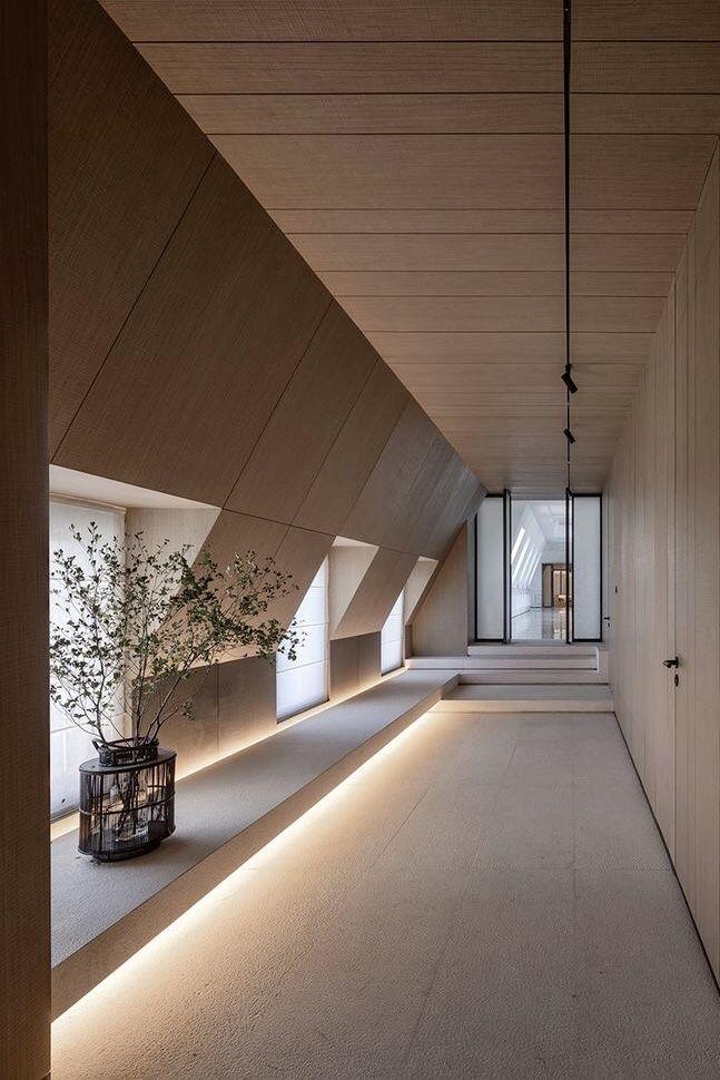 Minimalist Clean Lines Architecture Design In 2020 Lobby Design Minimalist Architecture Corridor Design