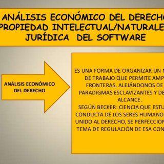 ANÁLISIS ECONÓMICO DEL DERECHO/PROPIEDAD INTELECTUAL/NATURALEZA JURÍDICA DEL SOFTWARE ES UNA FORMA DE ORGANIZAR UN MÉTODO DE TRABAJO QUE PERMITE AMPLIAR ANÁ. http://slidehot.com/resources/diapos-analisis-economico.61764/