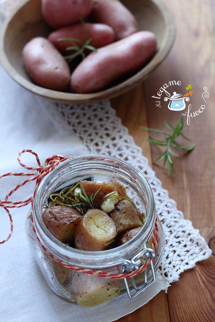 Cotte in soli 8 minuti, grazie alla #vasocottura le cuoceremo al vapore e saranno buona come quelle al forno!  #cookingjar #potato