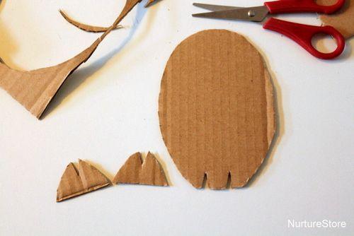 cardboard easter chick craft