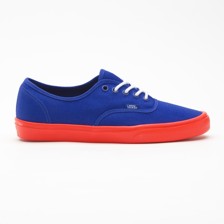 Vans Pop Authentic Lite in Web Blue/Neon Orange