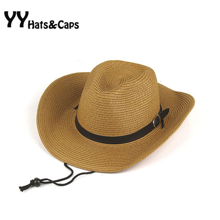 Felt Cowboy Hat For Man Straw Hats 2015 Summer Style Wide Brim Sunhats Western Hat Woman Party Hat Sombreros de Vaquero YY0272
