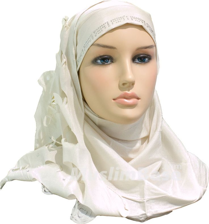 Igal Hijab - Creamish Silver - Rosy Cut http://www.muslimbase.com/clothing/hijabs/igal-hijab/igal-hijab-creamish-silver-rosy-p-7188.html