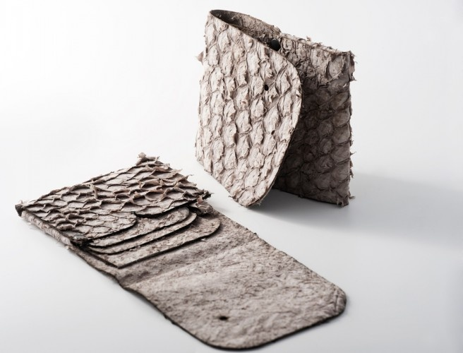 "#wallet made of fish leather (perch) | Design by Sruli Recht ""whalet"""