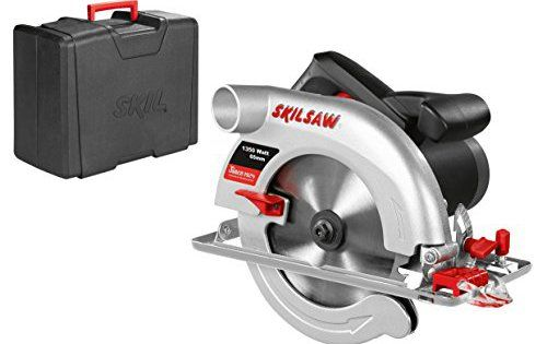 Skil 5765AD Scie Circulaire 65 mm (1350W, Raccord pour Aspirateur, Guide Parallèle, Lame Carbure 184 mm, Coffret): Puissant moteur de 1350…