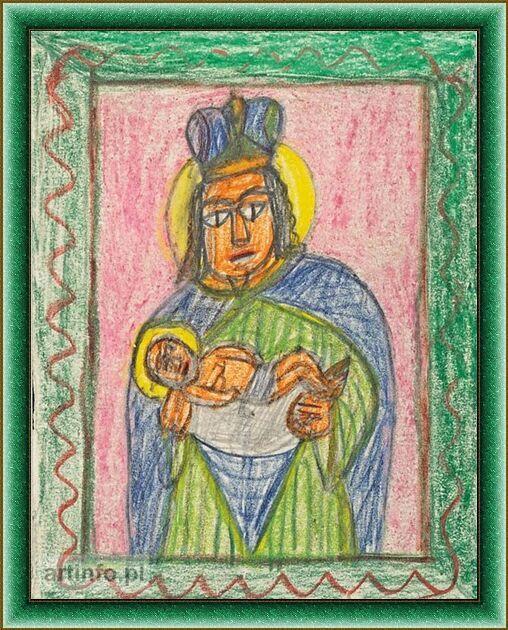 Madonna z dzieciątkiem  art.Nikifor Krynicki